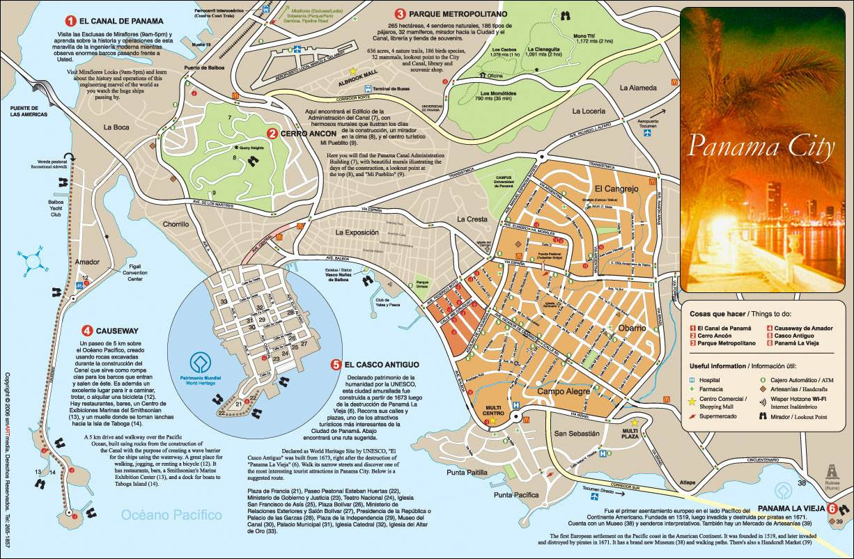 Large Panama City Maps For Free Download And Print High