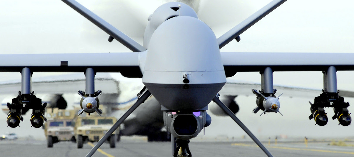 A fully armed MQ-9 Reaper taxis down an Afghanistan runway. (Photo: U.S. Air Force)