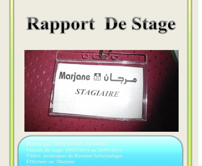 Exemple Rapport De Stage Pdf Informatique - Le Meilleur ...