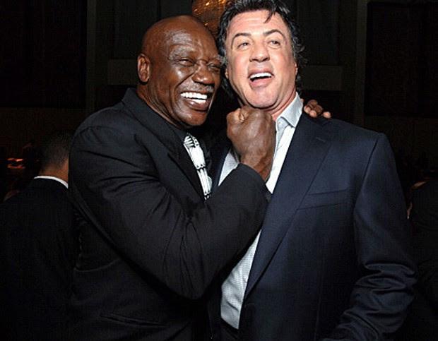 Tony Burton faz graça com Sylvester Stallone em um dos encontros dos atores (Foto: Reprodução)