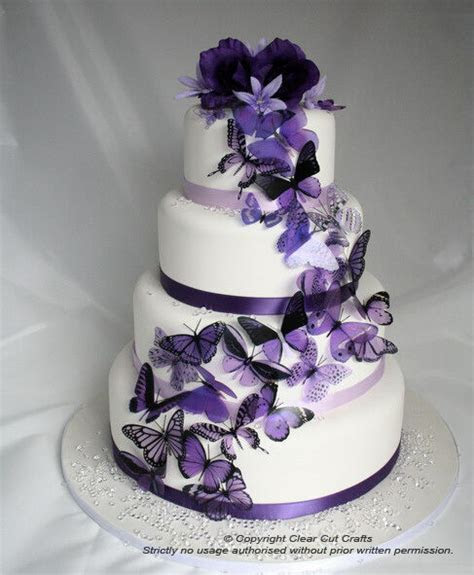 20 Mixed Purple Butterflies great for Wedding Cakes   eBay