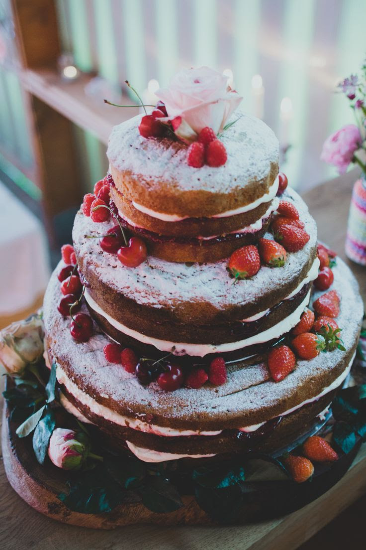 Gorgeous naked cake! - I want a mini cake like this!