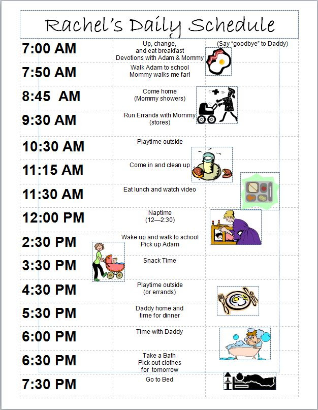Daily Schedule 8 Month Old | Daily Planner