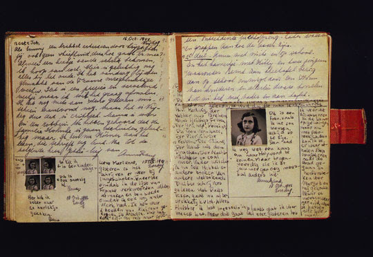 Anne Frank diary open