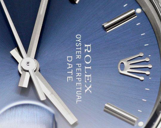 Originalfoto ROLEX DATE OYSTER PERPETUAL CHRONOMETER HERRENUHR STAHL
