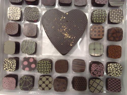 Heart Shapped and Pretty Richart Dark Chocolates