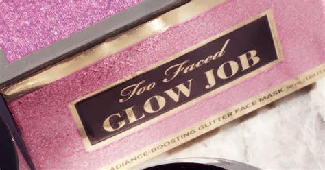 Too Faced Glow Job Glitter Mask Restock   POPSUGAR Beauty