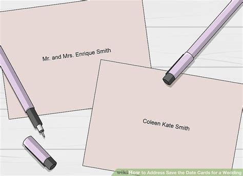 3 Ways to Address Save the Date Cards for a Wedding   wikiHow