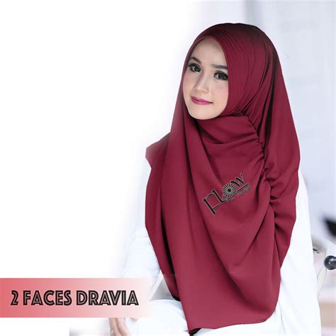 hijab pashmina instan  faces dravia model kekinian
