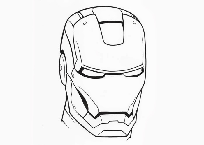 Iron Man Head Drawing | Free download on ClipArtMag