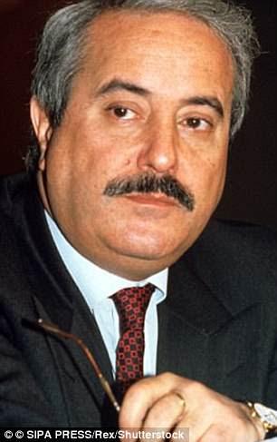 Anti-mafia judge Giovanni Falcone, whose assassination by a car bomb in 1992 was ordered by notorious mafia boss Salvatore 'Toto' Riina