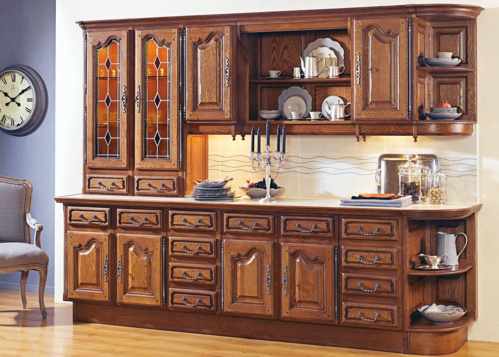 Traditional solid wood kitchen (rustic style) - LAVAISSIERE 1 - SAGNE