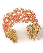 Kenneth Jay Lane Coral Branch Cuff