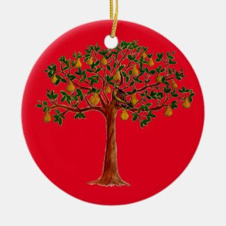 P in a Pear Tree Christmas Ornament