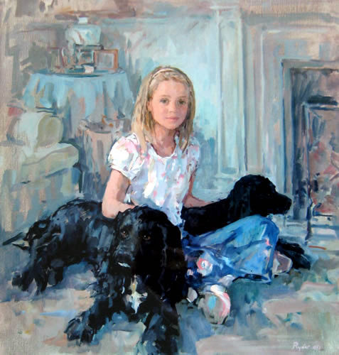 Phoebe With Molly And Mungo