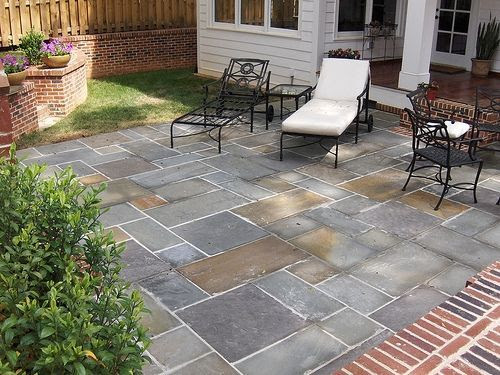 Small backyard stone patio diy