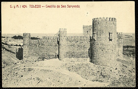 Castillo de San Servando a inicios del siglo XX. Foto Castañeira