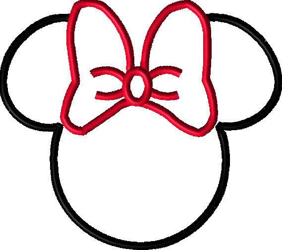minnie mouse kopf vorlage  ausmalbilder