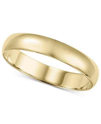 14k Gold 4mm Wedding Band   Rings   Jewelry & Watches   Macy's