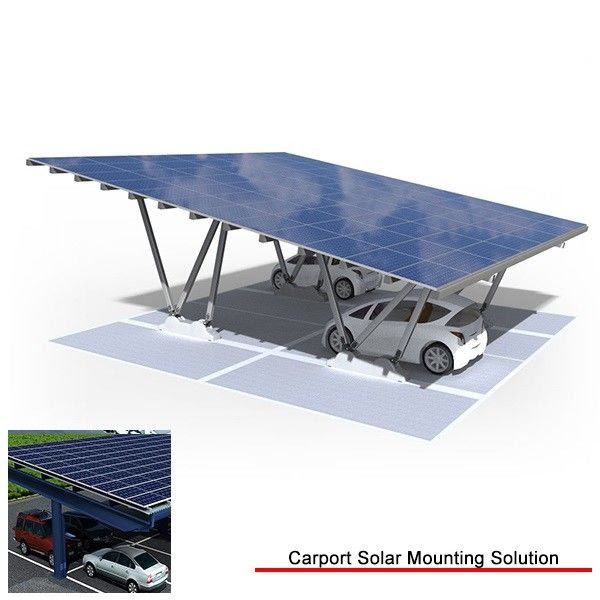 PV Garage Canopy Solar Carport Structures , Anodized ...