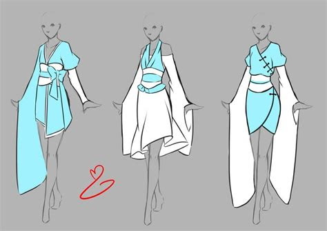 inspiration clothing manga art anime drawing clothes