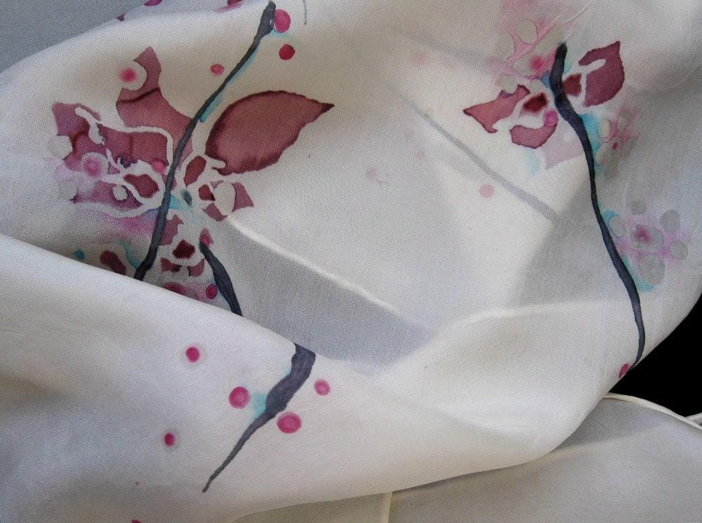 Cherry Blossom silk scarves