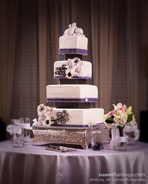 White Wedding: Trimmed in Plum, Pewter & Black   Sweet