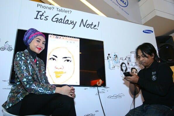 Yuna Zarai, Samsung GALAXY Note ambassador