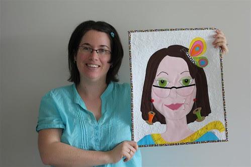Me & my new fabric portrait