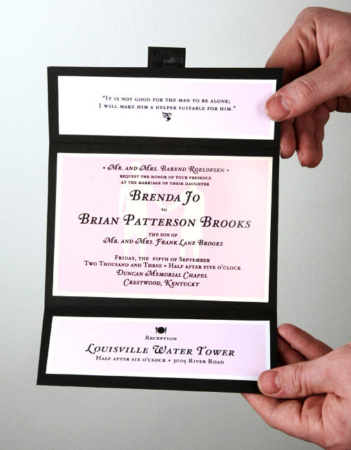 Personalized wedding invitations can be a good idea as well