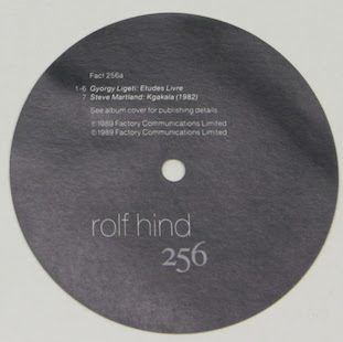 FACT 256 Rolf Hind label