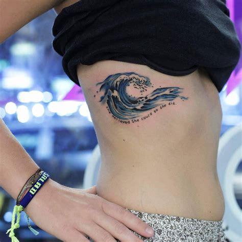 remarkable wave tattoo designs   depiction