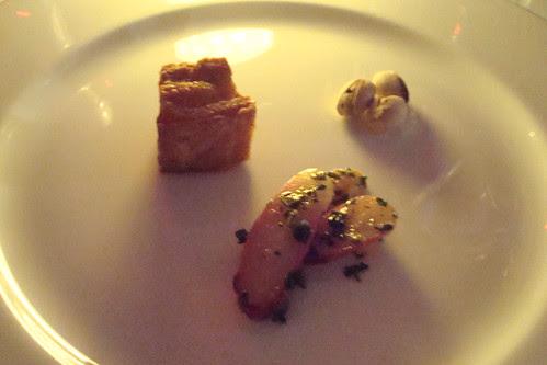 Wonderful Pistachios, Crispy Pork Short Rib, Radishes and Salsa Verde
