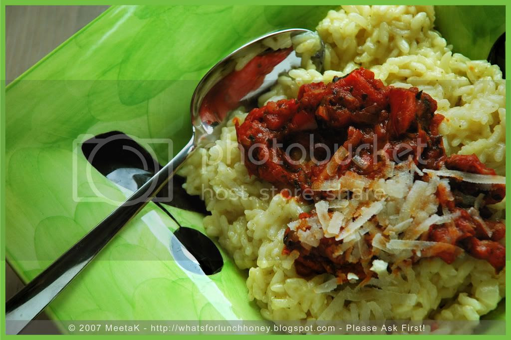 Red Pepper Risotto (01) by MeetaK
