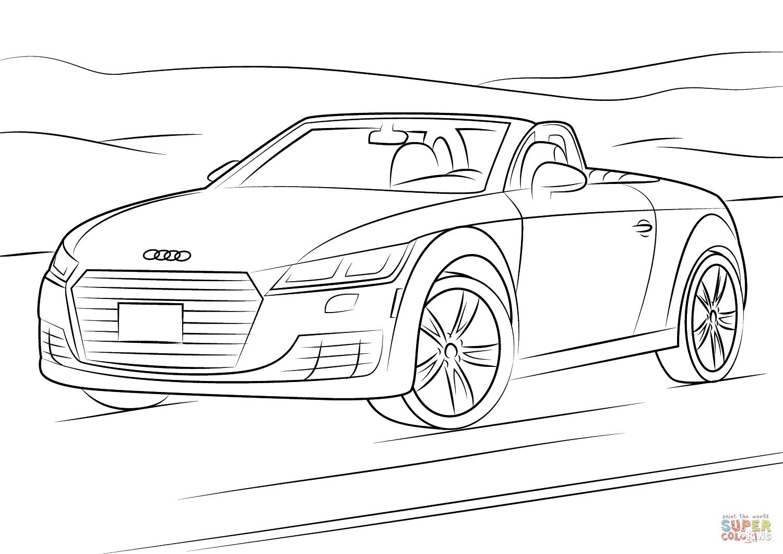 Disegno Di Audi Tt Da Colorare Disegni Da Colorare E Stampare Gratis