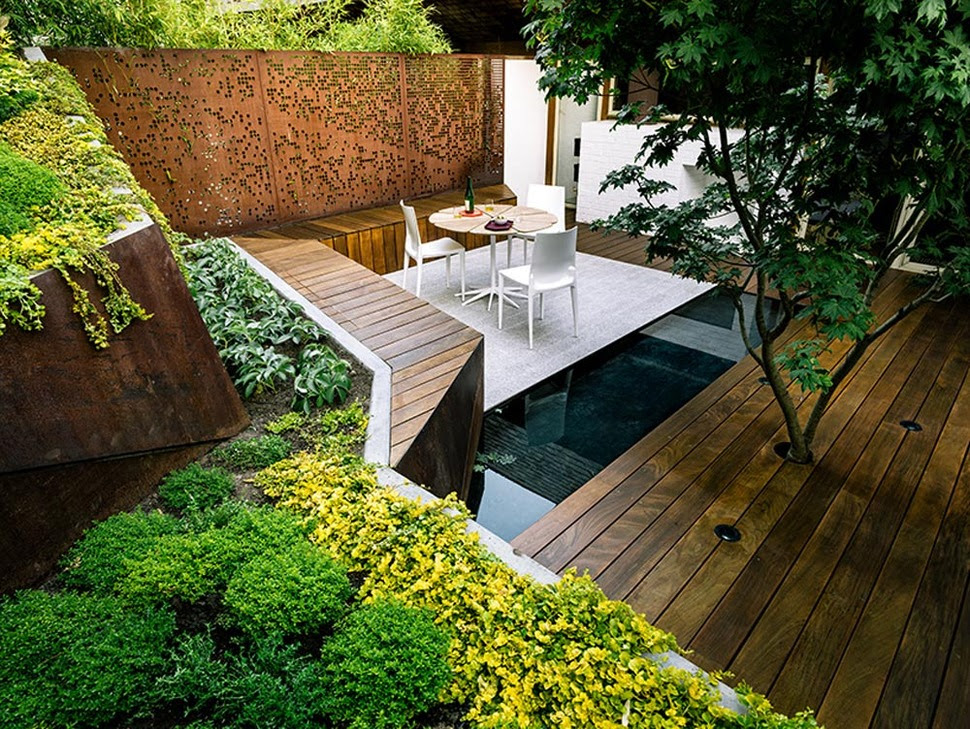 Multi Layered Japanese Style Garden and Sitting Area | Modern Outdoors