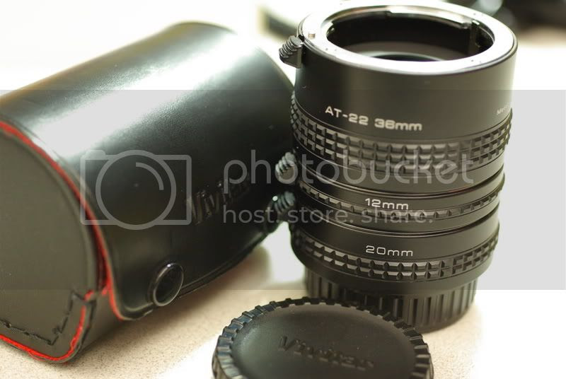 Vivitar AT-22 Macro extension tubes with 12mm, 20mm and 38mm