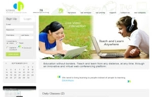 Education Website Design : iClass - Virtual Classroom
