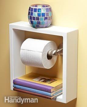 Que linda idea para el papel de baño #decoración #diy