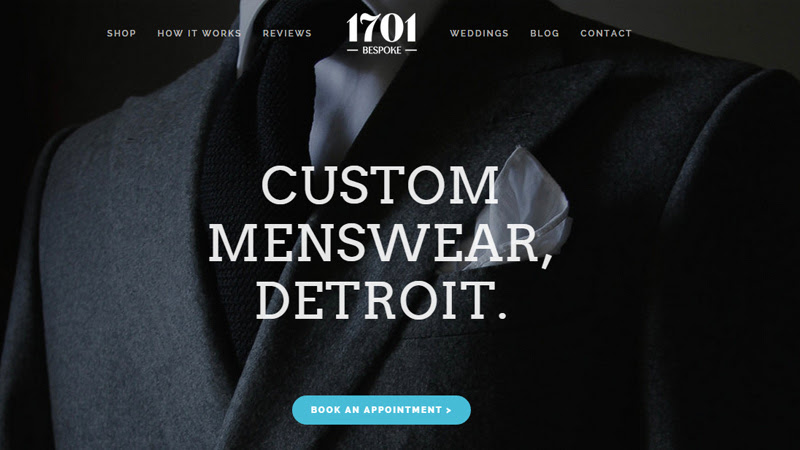 1701 bespoke custom suit tailor website