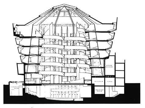 frank lloyd wright floor plans Guggenheim New York section