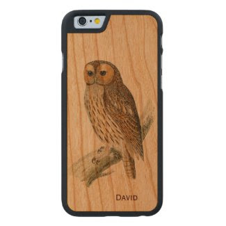 Vintage Owl Wooden iPhone 6 Case Carved® Walnut iPhone 6 Bumper Case