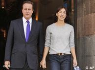 David and Samantha Cameron at a Conservative party conference