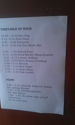 Timetable of Rock