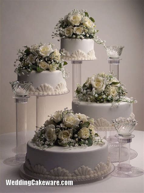 4 tier cascading wedding cake stand stands / 3 tier candle