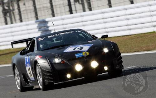 lexus lfa supercar shows up at toyota's motorsports