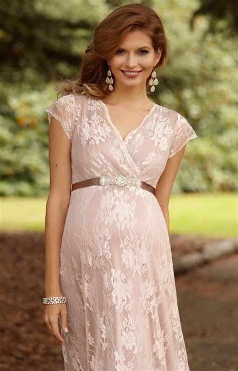 Eden Maternity Gown Long Blush   Maternity Wedding Dresses