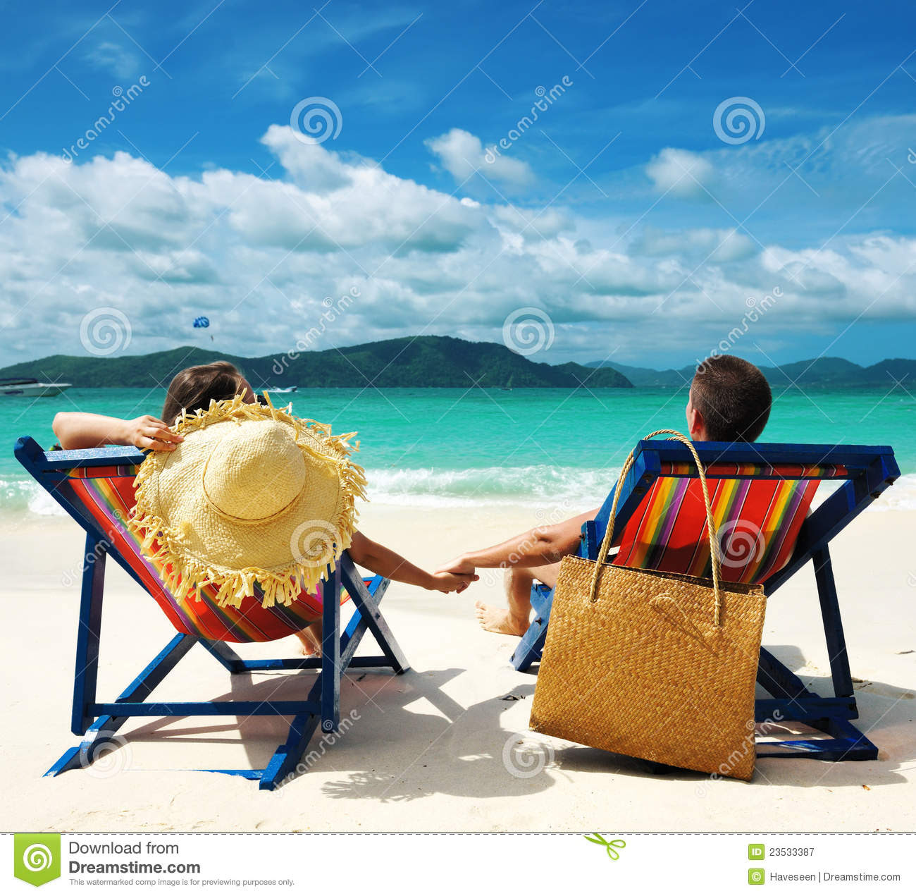 Couple On A Beach Royalty Free Stock Photography  Image
