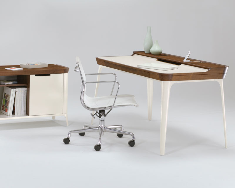 Stylish Work Desk for Modern Home Office from Kaijustudios | DigsDigs