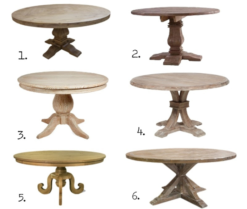 round dining tables square
